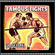 SALE 1950's/60's Famous Fights 8mm Castle Film, Marked 50% Off