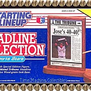 SALE 1991 Jose Canseco Starting Lineup Headline Collection, Marked 50% Off