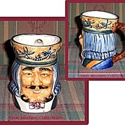 SALE Large Occupied Japan King with Crown Toby Mug, Marked 50% Off