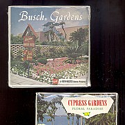 SALE 1970's Cypress Gardens & Busch Gardens View-Master 3 Reel Sets, Unopened, Marked Over .