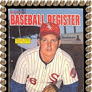 SALE Official 1973 Baseball Register, Wilbur Wood & Al Kaline, by Sporting News, Marked 50% Of