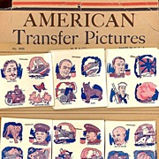 SALE 1943/44 WWII Era American Transfer Pictures, Store Display