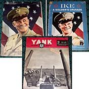 SALE 1945 WWII Yank Magazine & Sunday News Gen. Eisenhower Photo, & 1969 Ike..a Soldier's Crus