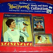 SALE 1997 Mary Poppins Music & Story Collection Read-Along Book & Cassette, Soundtrack Cassett