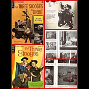 SOLD 1962 The Three Stooges in Orbit Film Story & 1963 Three Stooges Comic, No. 14