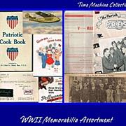 WWII Paper Memorabilia 15 Pieces