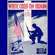 1945 WWII White Cross on Okinawa Sheet Music