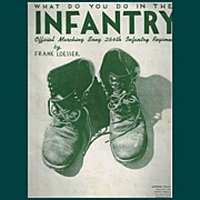 1943 WWII What Do You Do in The Infantry Sheet Music