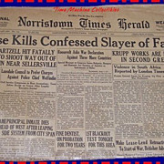 1942 Norristown Times Herald Paper