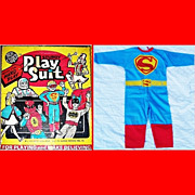 1975 Ben Cooper Superman Play Suit/Halloween Costume