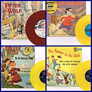 Six 1950's Peter Pan & Golden Record Kiddie Records