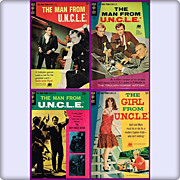 SOLD Three 1966, 1967, 1968 Man From U.N.C.L.E. & One 1967 Girl From U.N.C.L.E. Comic Books