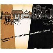 SALE 1935 Gems of American Architecture (The American Outhouse)