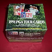 1991 PGA Tour Golf Cards, Full Box