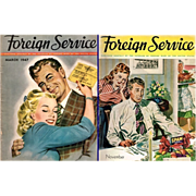 SALE Two Post WWII 1947 Foreign Service Magazines