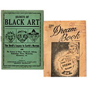 SALE 1930's- 40's Secrets of Black Art Book & Dream Book--Your Dream Future, 8th Edition