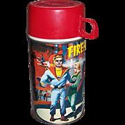 1964 Fireball XL5 Metal Thermos Bottle