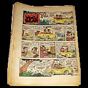 1970's-80's Yogi Bear & Tiger Sunday Reading Eagle Color Comic Strips