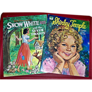 1972 Snow White & 1976 Shirley Temple Paper Dolls, both Whitman
