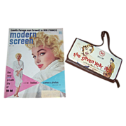 SALE 1955 Marilyn Monroe Cover Modern Screen Magazine & MM Wallet Clutch Purse
