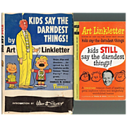"SALE 1957/1962 Art Linkletter ""Kids Say The Darndest Things!"" Books"