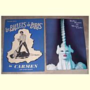 1949 Les Ballets de Paris & 1957 Ballet Russe de Monte Carlo Programs