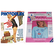 1975 Photoplay Magazine Marilyn Monroe Cover & 1990 Hollywood Legends Marilyn Monroe Iron-On T