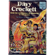 SALE 1955 Davy Crockett from the Backwoods of Tennessee to the Alamo Book, Marked Over 50% Off
