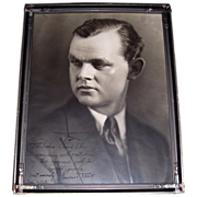 SOLD Opera Singer Lawrence Tibbett Inscribed & Signed 1929 Photograph Framed