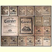 SOLD 1800's/1900's German Reading, Pa., Adler Farmers Almanac