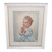 I Pray The Lord My Soul To Keep, Erna Kasaback Framed Print