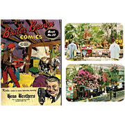 Hess's Department Store Flower Show Postcards & Hess's Buster Brown Comic Book