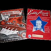 1942 WWVA Radio Jamboree Famous Songs & 1944 Eddy Arnold Song Folios/Books