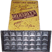 Vintage Hershey Candy Bar Mold & Hershey Candy Box