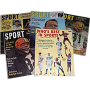 Five 1950's & 60's Sports Magazines
