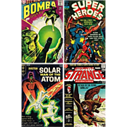1967 Super Heroes Comic, No. 3, 1968 Bomba Comic, No. 6, 1969 Doctor Solar Comic ...