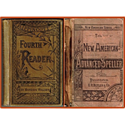 1880 New American Advanced Speller & 1883 Lippincott's Fourth Reader