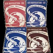 Four WWII Era US Navy Air Navigation Training Manuals