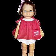 "1962 Mattel Tiny Chatty Baby Doll, 15"" Tall"