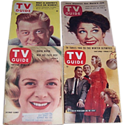 Four 1950's & 1960's TV Guides, Arthur Godfrey, Martha Raye, Rosemary Clooney, Stars of ..
