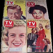 Four 1950's & 1960's TV Guides, Arthur Godfrey, Martha Raye, Rosemary Clooney, Stars of Pe