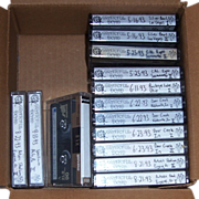 SOLD 14 Grateful Dead Live Concert Tapes from 1993 & 1995, Group 5A