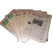 Six 1946 WWII Spearhead 351st Infantry Regiment Newspapers