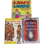 Two WWII & One Korean War Humorous Paperback Books