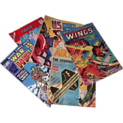 Five War Comics--1953 Wings, 1961/1965 Fightin' Air Force, 1964 U.S. Fighting Men, & 1975 War