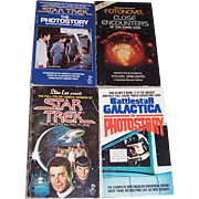 Four Star Trek, Close Encounters, and Battlestar Galactica Paperback Books