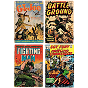 Four War Comics, 1953 G.I. Joe, 1956 Battle Ground, 1953 Fighting Man, 1970 Sgt ...