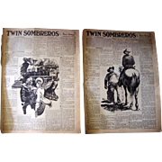 "1940 ""Twin Sombreros"" Western Novel by Zane Gray, Complete in NY Sunday News"