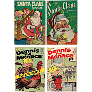 SOLD 1950's/1960's Santa Claus Funnies and Dennis the Menace Comic Books