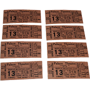 Eight March 13th, 1940, Gone With the Wind Palace Theatre Movie Tickets